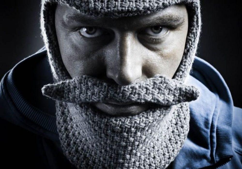 Classic Grandpa Beard Head Knight Costume Novelty Ski Mask