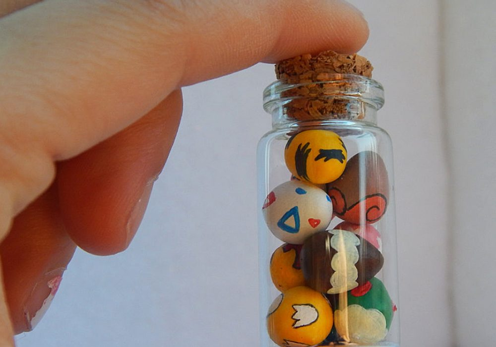 Clay Keep Little Glass Jar of Pokemon Eggs Cool Accessory
