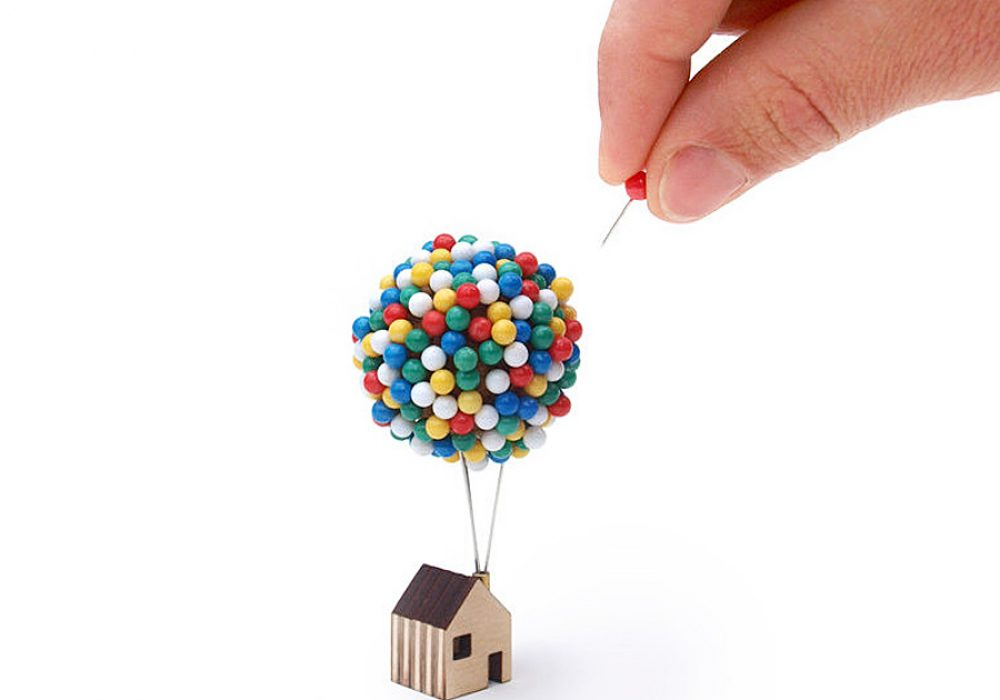 Clive Roddy Balloon Pin House Handmade Item