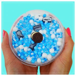 Cookie Monster Cereal Bowl Cereal Milk Slime Blueberry Marshmallow Scented