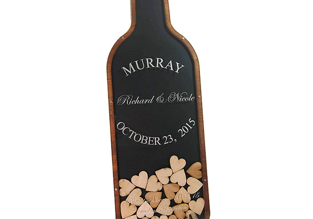 Coosa Designs Wine Bottle Guest Book Wedding Accessory