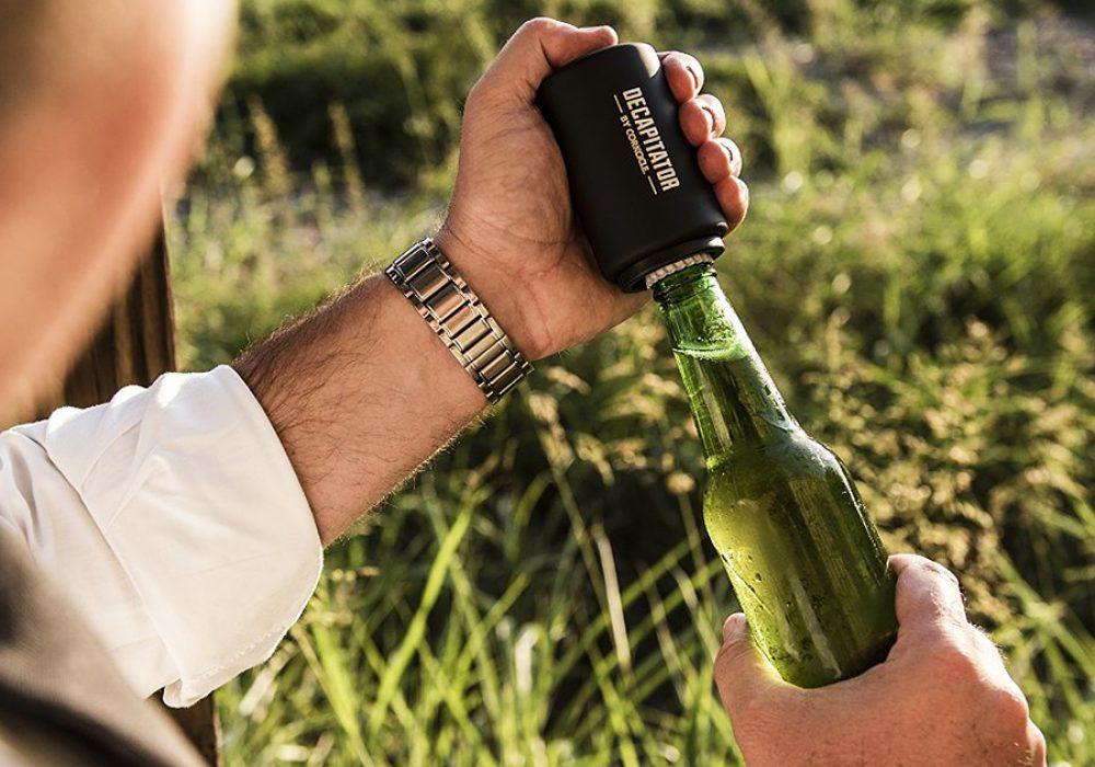 Corkcicle Decapitator Bottle Cap Opener Cool Novelty Item