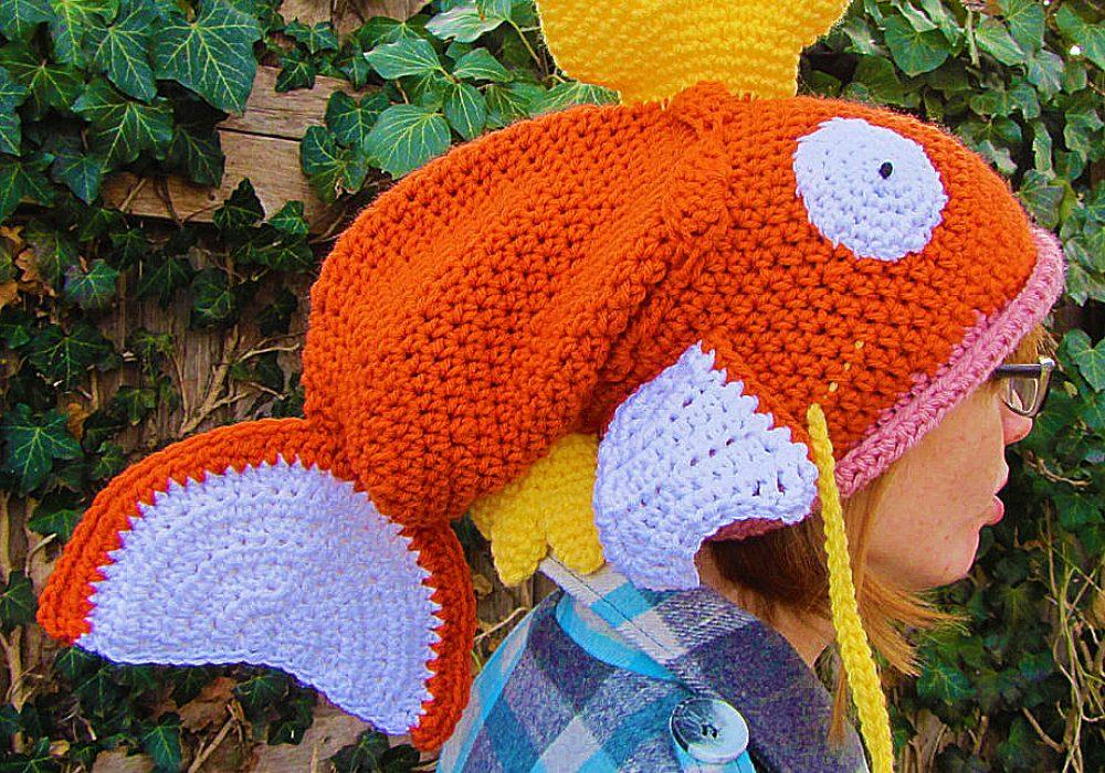 Corlista Magikarp Pokemon Crochet Hat Cute Things to Buy