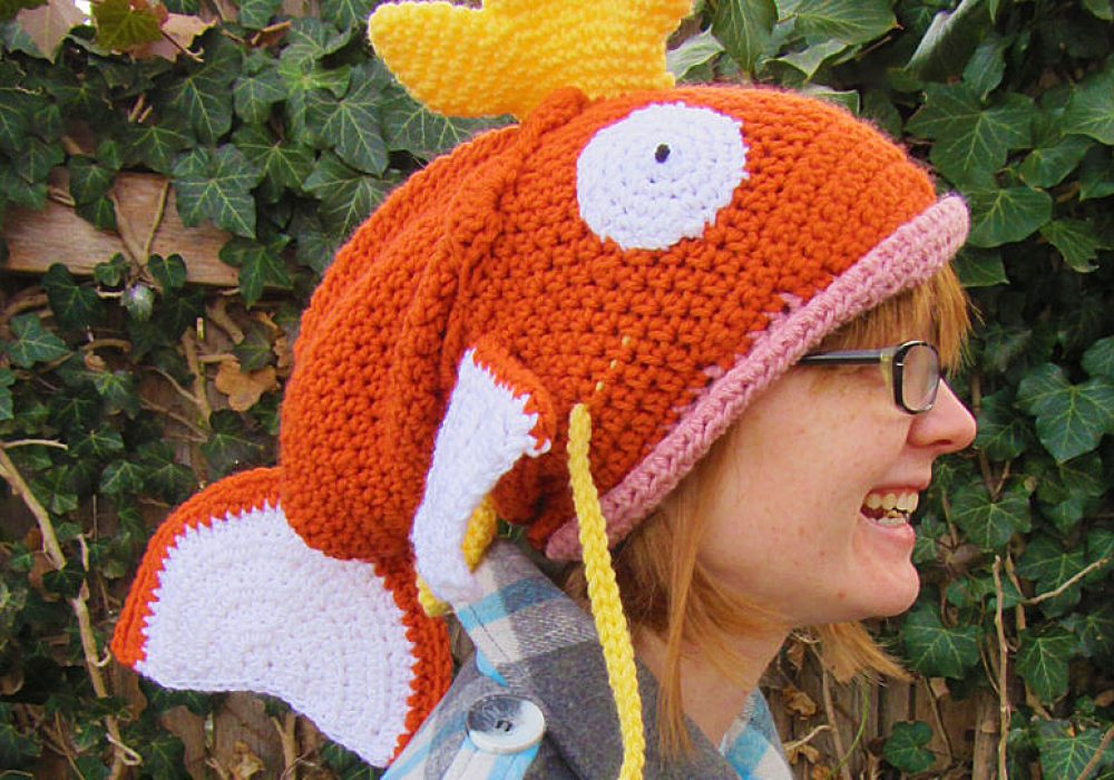 Corlista Magikarp Pokemon Crochet Hat Geek Girlfriend Gift Idea