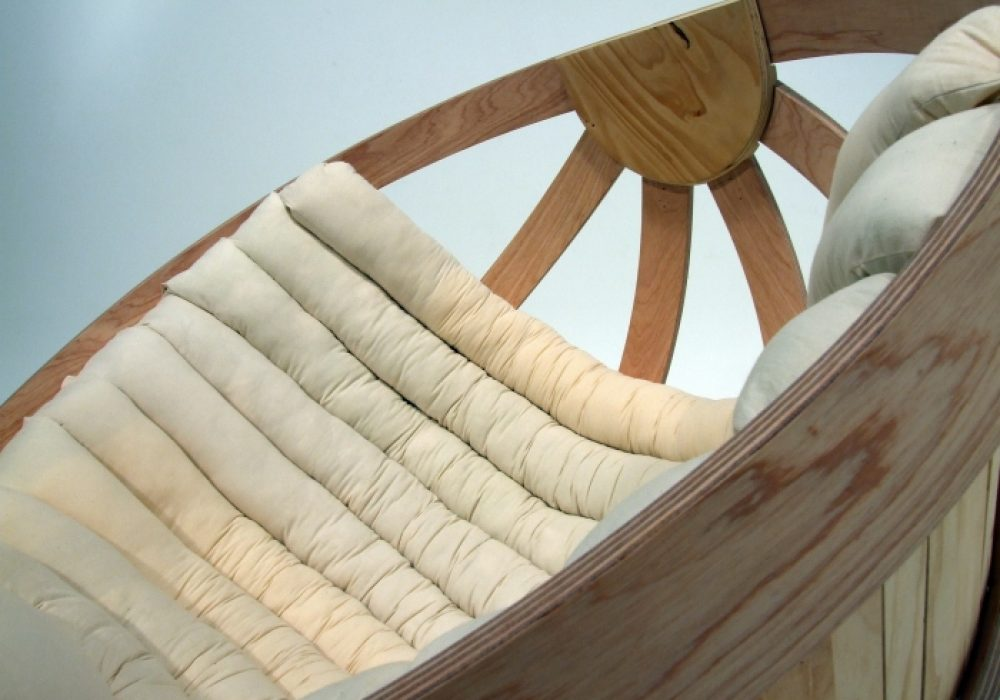 Cradle Chair By Richard Clarkson Bedding Detail
