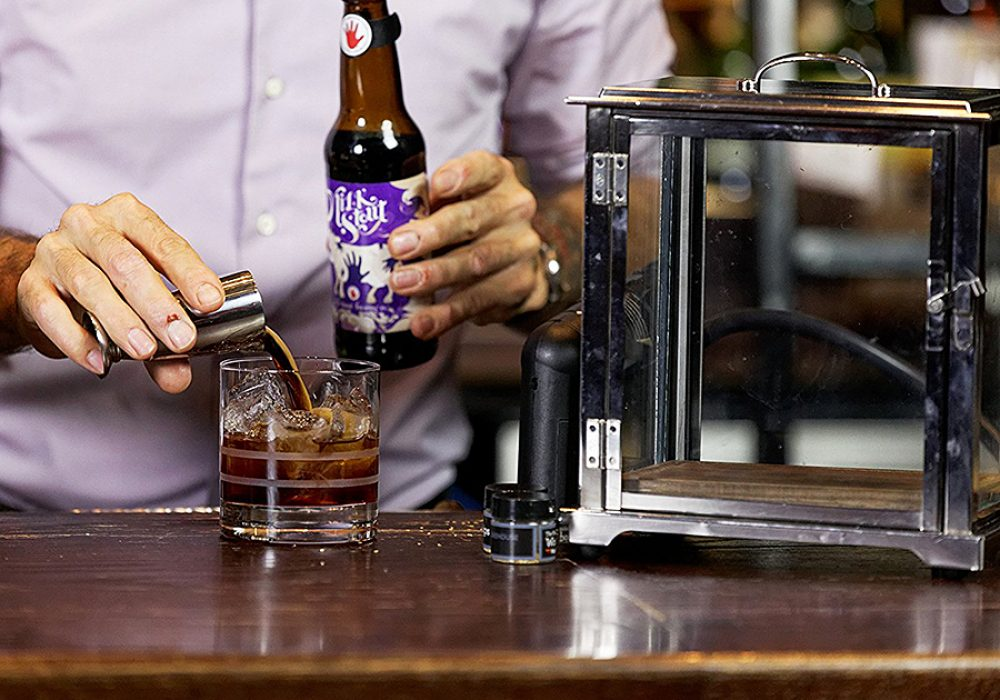crafthouse-by-fortessa-smoking-box-with-smoke-gun-stainless-steel-frame