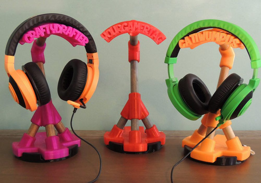 Crafty Drafter Gamer Tag Headphone Stand Cool Gift for Teenagers