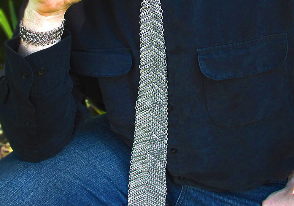 Creative Reflections Chainmaille Neck Tie Cool Gift to Buy Him