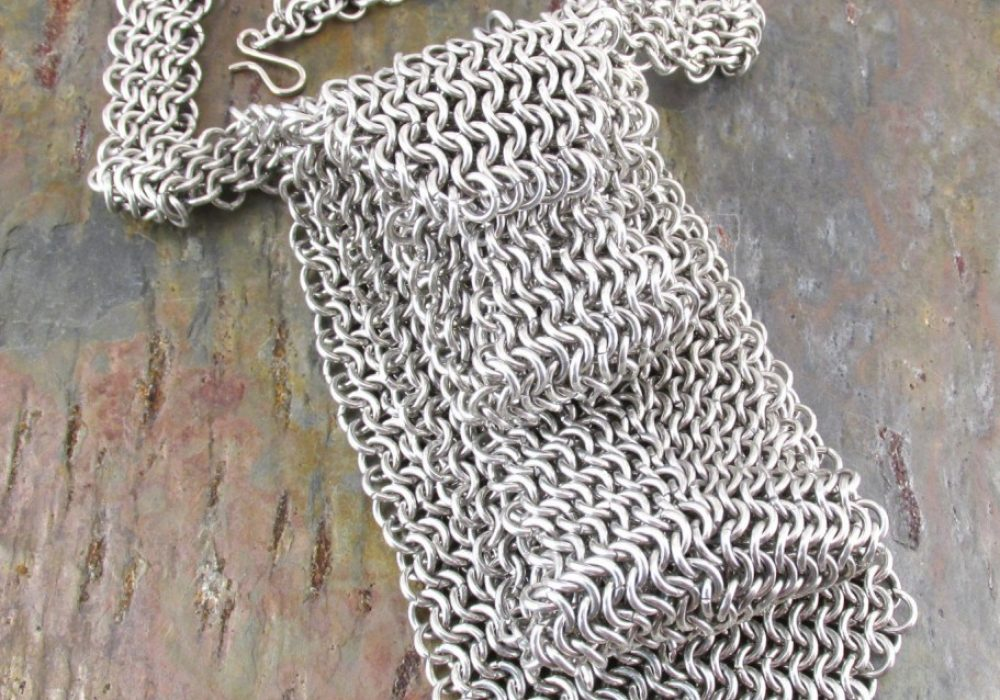 Creative Reflections Chainmaille Neck Tie Geek Gift to Buy