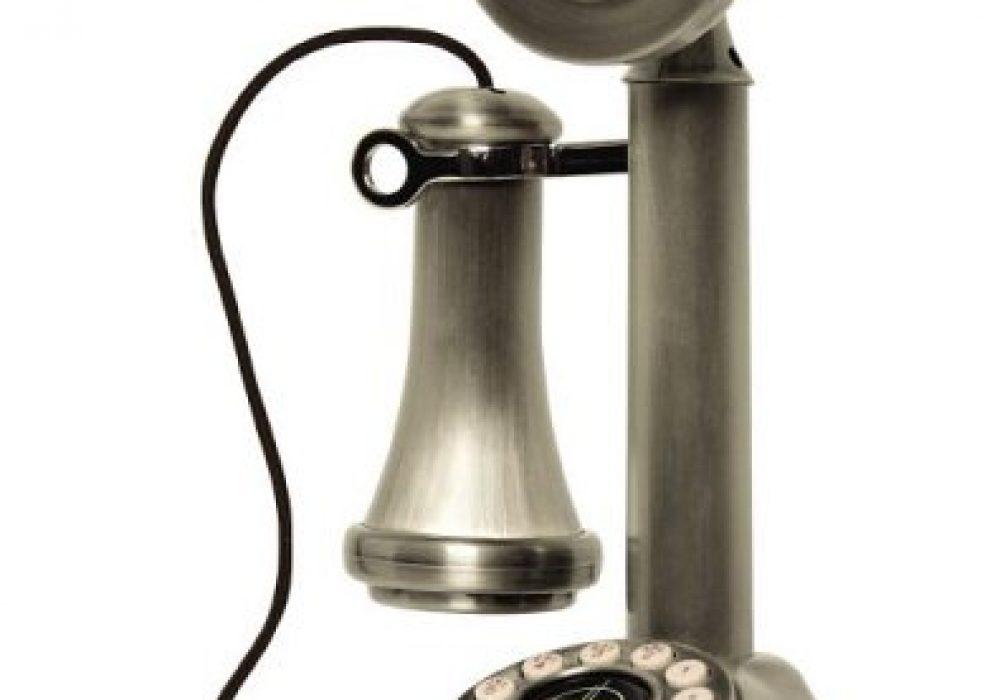 Crosley Candlestick Phone Metal Finish