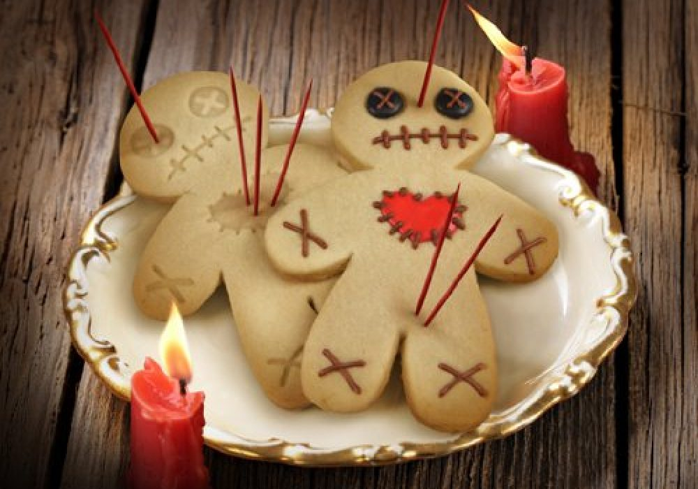 Cursed Cookies Cookie Cutter Stamper Cute Halloween Voodoo Doll Dessert