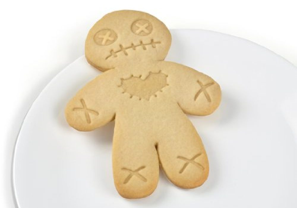 Cursed Cookies Cookie Cutter Stamper Ginger Brad Man Voodoo Doll Cute and Morbid
