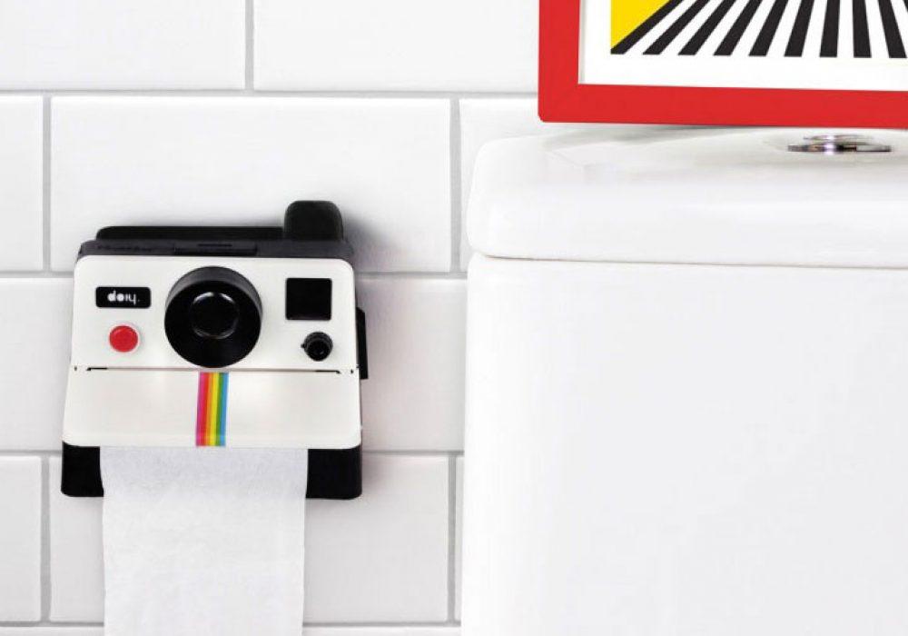 DOIY Polaroll Toilet Paper Roll Holder Cute Bathroom Fixture