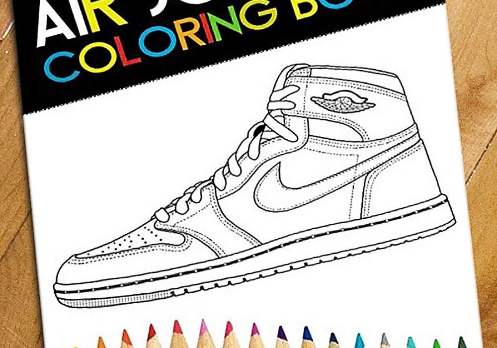 Da Vinci Air Jordan Coloring Book Sneaker Head Pastime