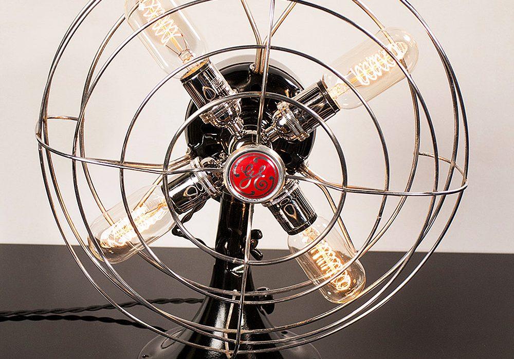 Dan Cordero Steampunk Fan Lamp Cool Novelty Item