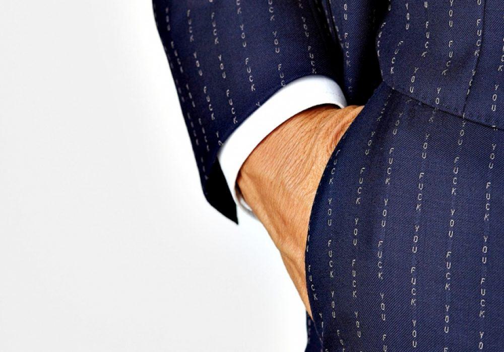 David August Eff You Pinstripe 3-Piece Wool Suit Garment