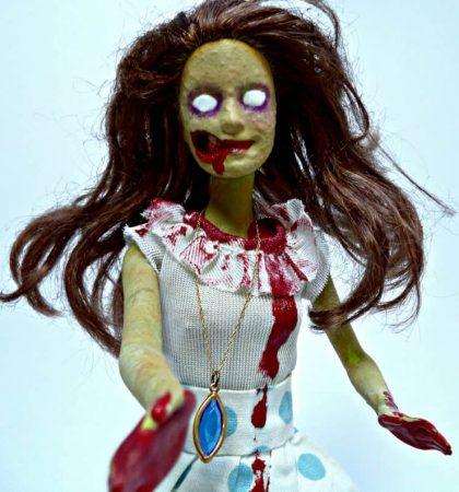 Decayed Creepy Retro Polka Dot Skirt Walker