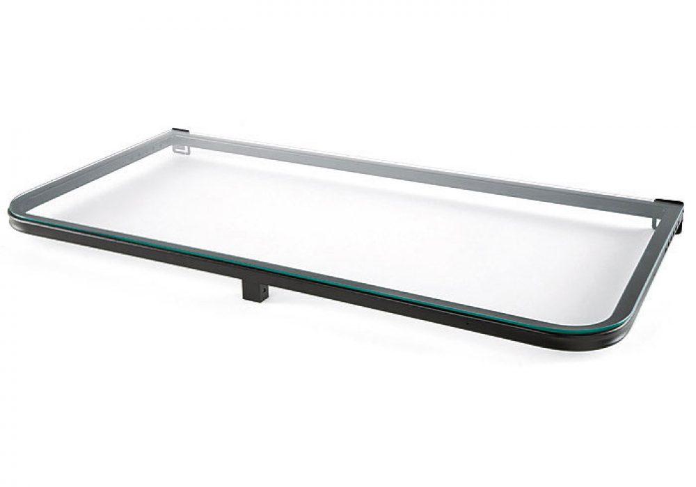 DeckMATE-Rail-Tray-Black-Metal-Frame Tempered Glass