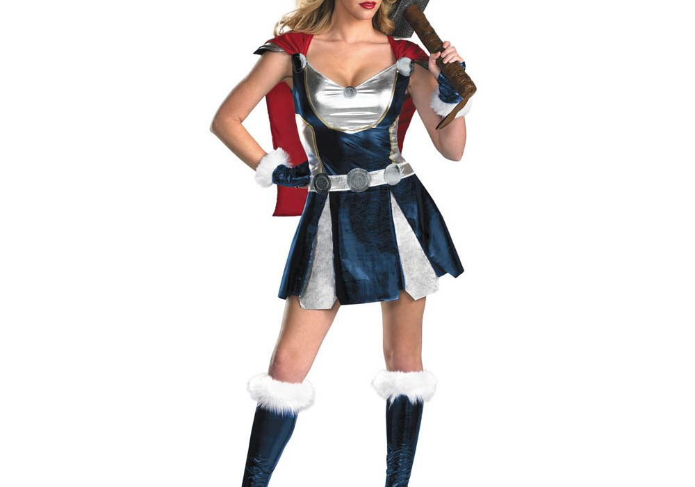 Disguise Womens Marvel Thor Girl Sassy Costume Sexy Party