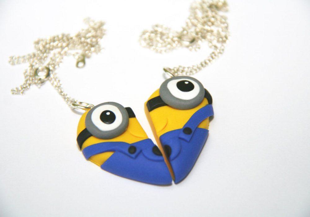 Dizzy Day Dreamz Minion Friendship Necklace Cute Girly Fashion Accessory
