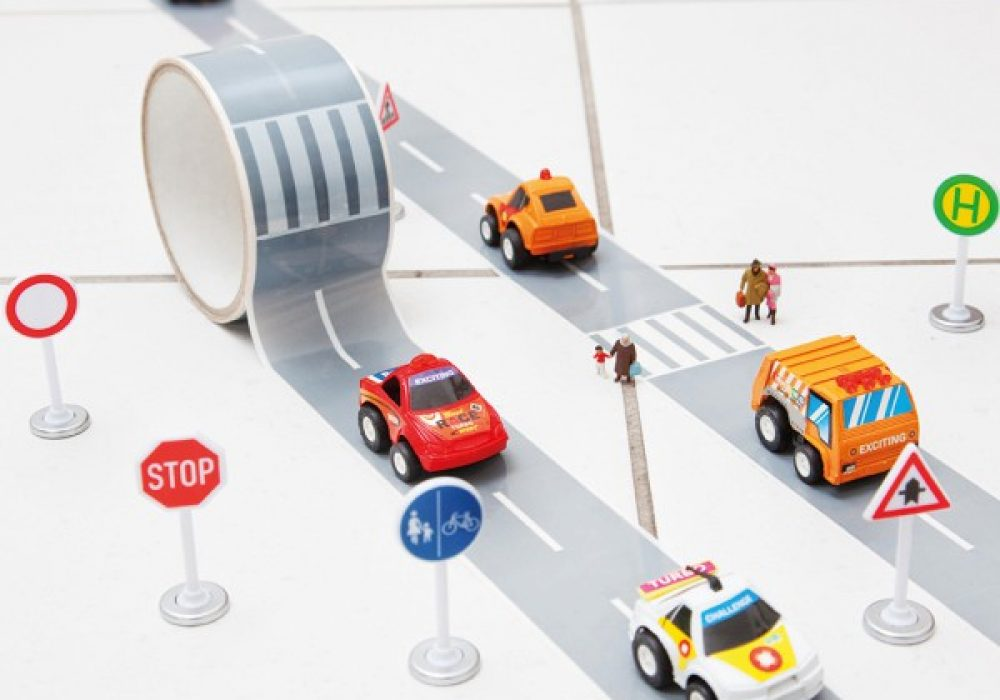 Donkey Products My First Autobahn Road Tape with Toy Car Gift Idea for Child