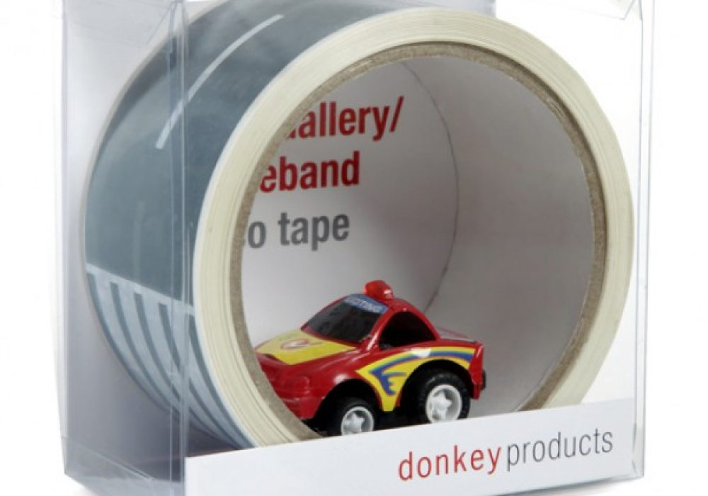 Donkey Products My First Autobahn Road Tape with Toy Car for Preschool