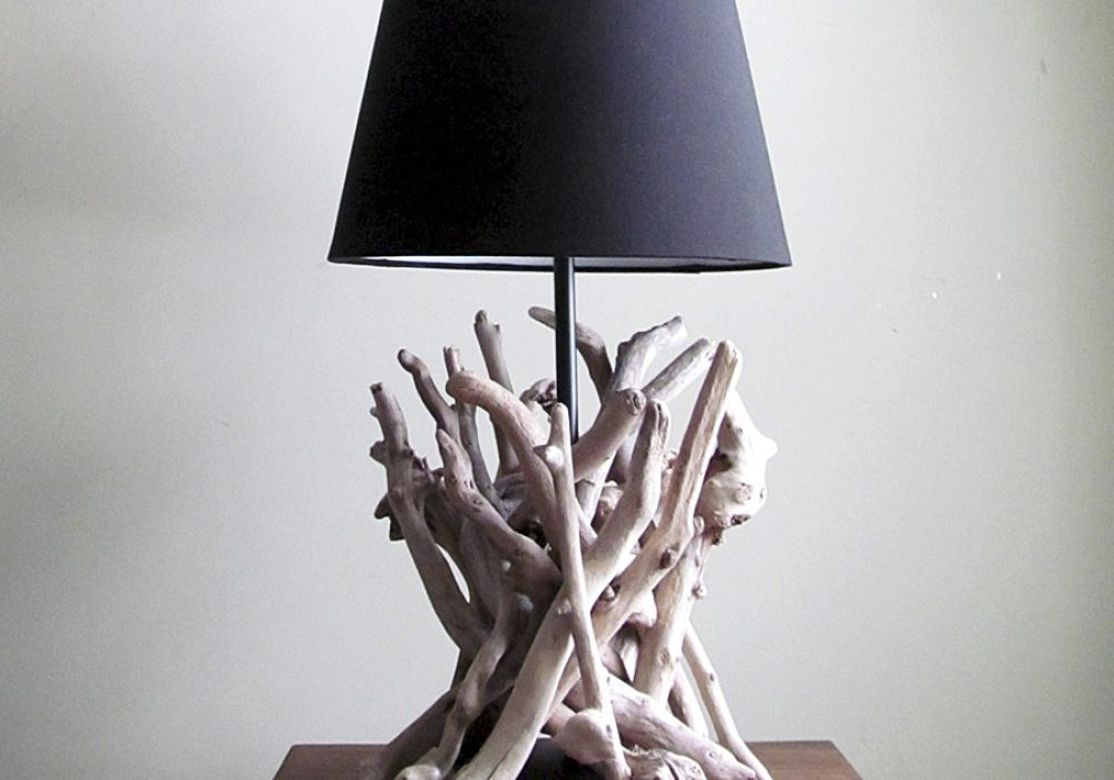 Drifting Concepts Driftwood Table Lamp Beautifully Entwined Driftwood Sculpture