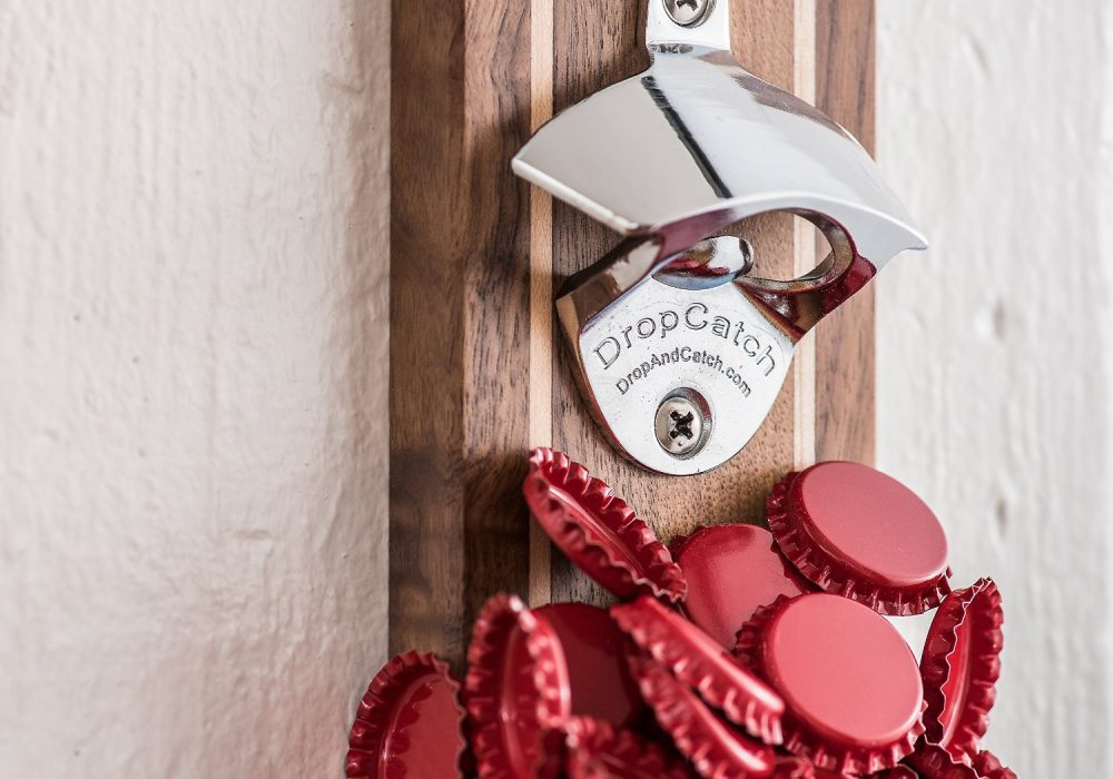 DropCatch Magnetic Bottle Opener Red Caps Artwork