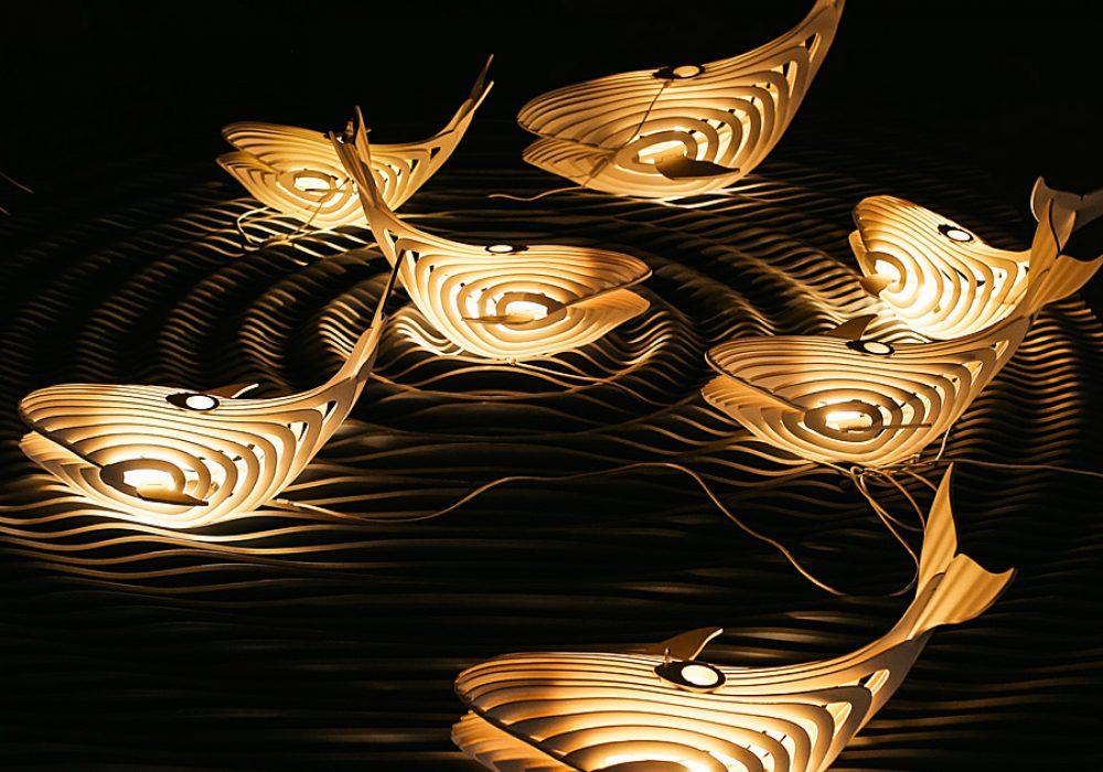 ESSE Boutique Wooden Whale Lamp Great Interior Design