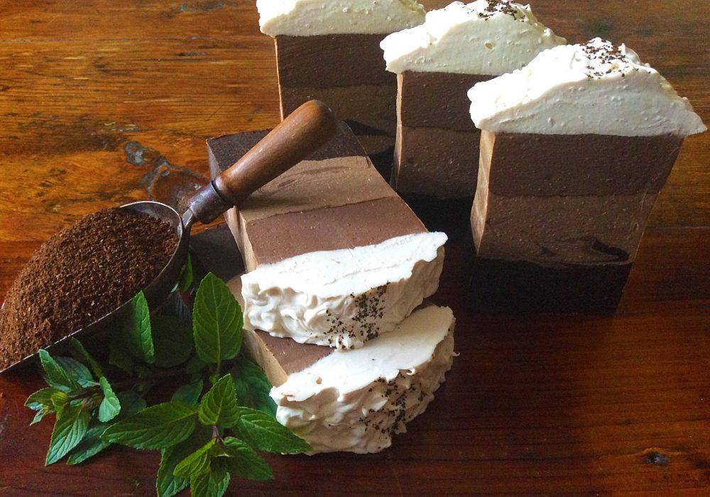 Earthy Krunchy Soap Caffe Mocha Latte Coffee Scrub Soap Gift Ideas For Her