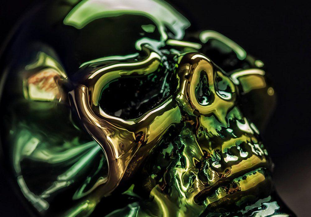 Elevator Glassworks Sick Skull Pipe Shiny