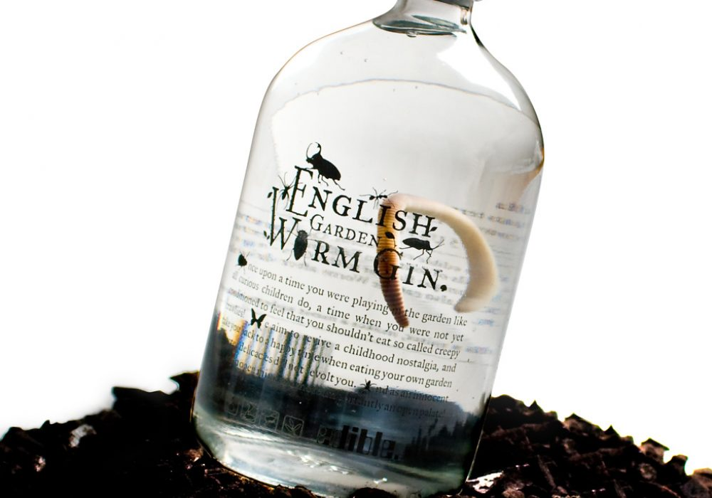 English Garden Worm Gin A Cool Liquor Gift Idea for people Who Love to Drink