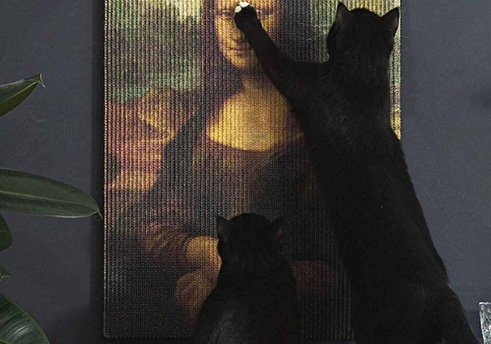 Erik Stehmann Copycat Art Scratcher Nice Gift for Cat Owner