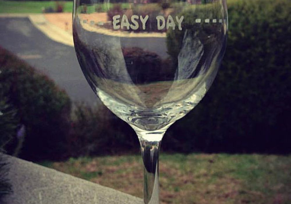 Etched Expressions 2 Rough Day Wine Glasses Funny Gift Idea