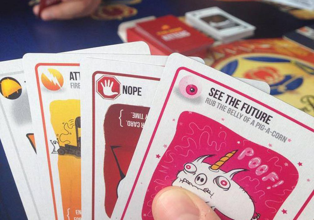 Exploding Kittens Card Game See the Future