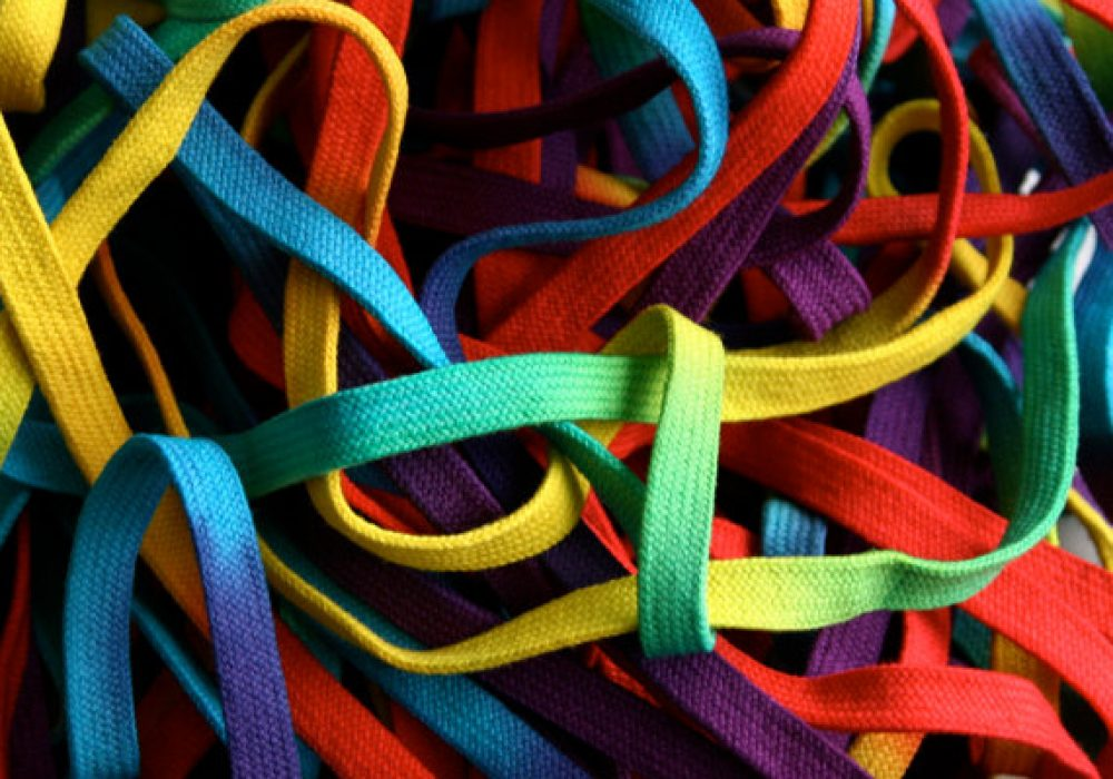 Extra Long Rainbow Shoe Laces Colorful Accessory