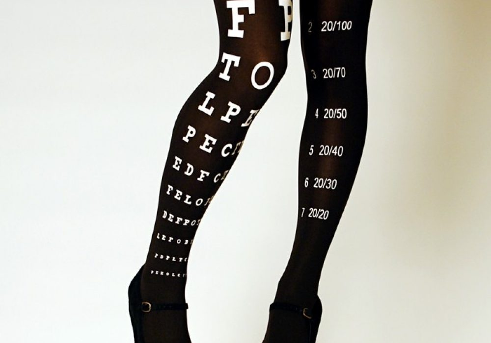 Eye Exam Chart Tights  Black Sexy Gift