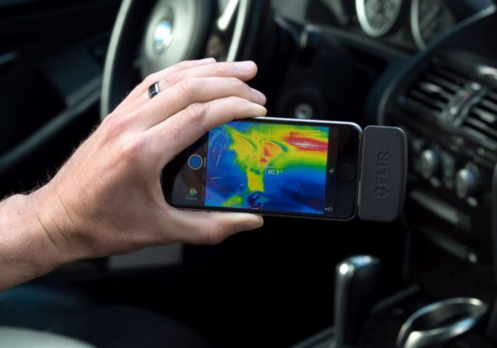 FLIR One Thermal Imaging Equipment Car