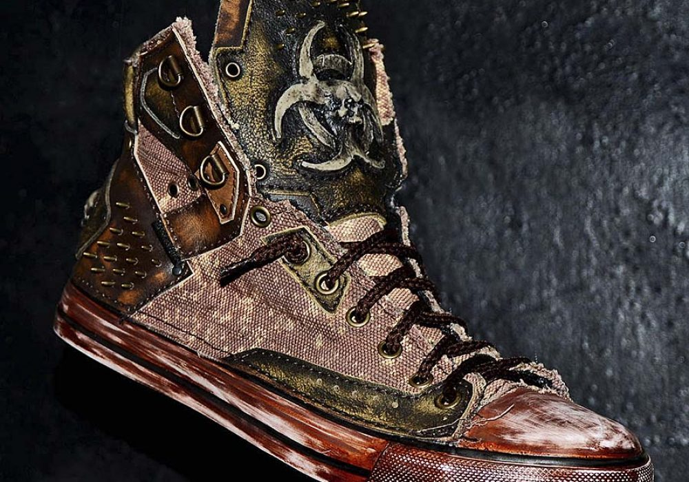 Family Skiners Custom Biohazard Sneakers Footwear