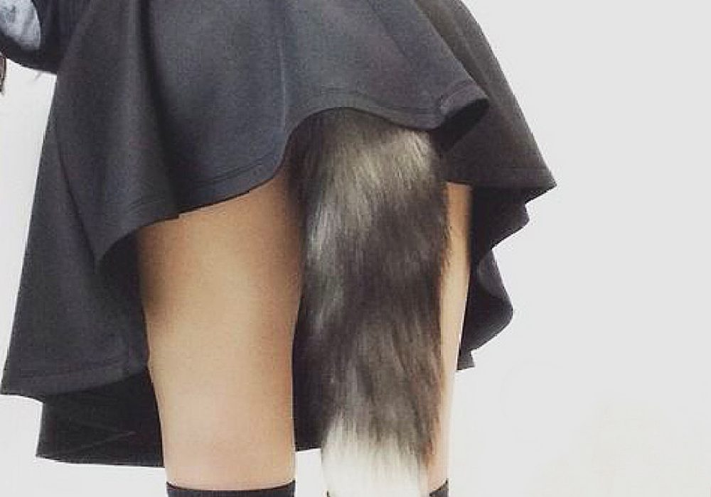 Feathered Fetish Fox Tail Butt Plug Clothing Accessory
