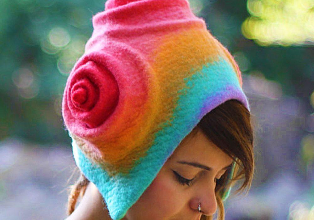 Feltthink Custom Handmade Colorful Wool Hat Cute and Weird Fashion Accessory