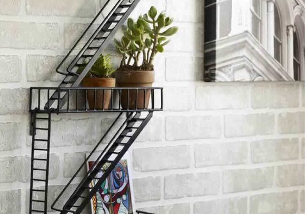Fire Escape Shelf Cool Interior and Creative Design