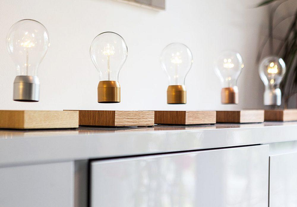 Flyte Floating Levitating LED Light Bulb Display