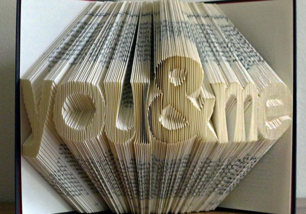 Folded Book Art Sculpture By Luciana Frigerio Book Art
