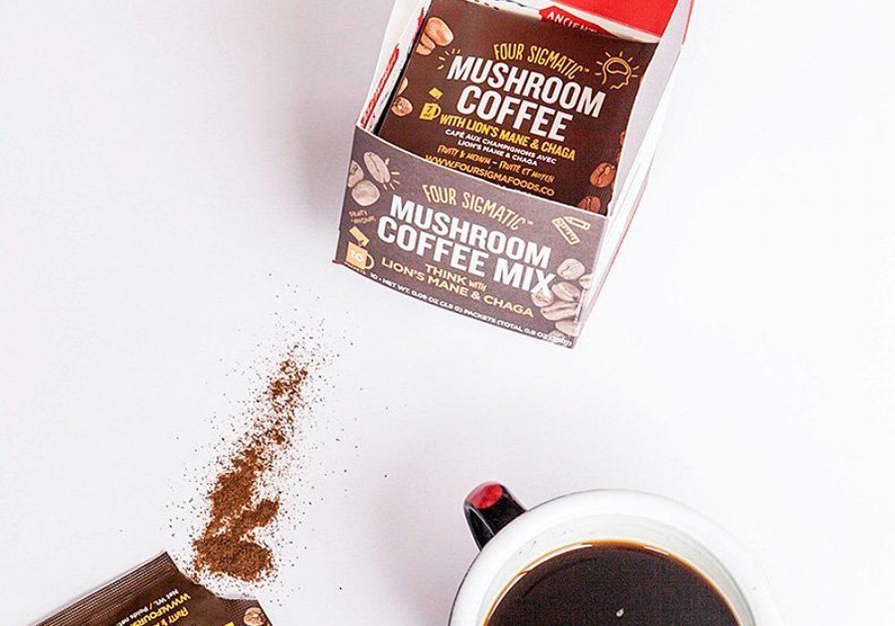 Four Sigma Foods Mushroom Coffee Vegan and Paleo Friendly