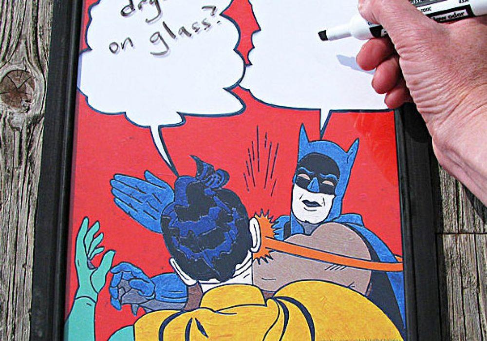 Framed Batman Slap Meme Artwork by Choleena Funny Gift to Buy