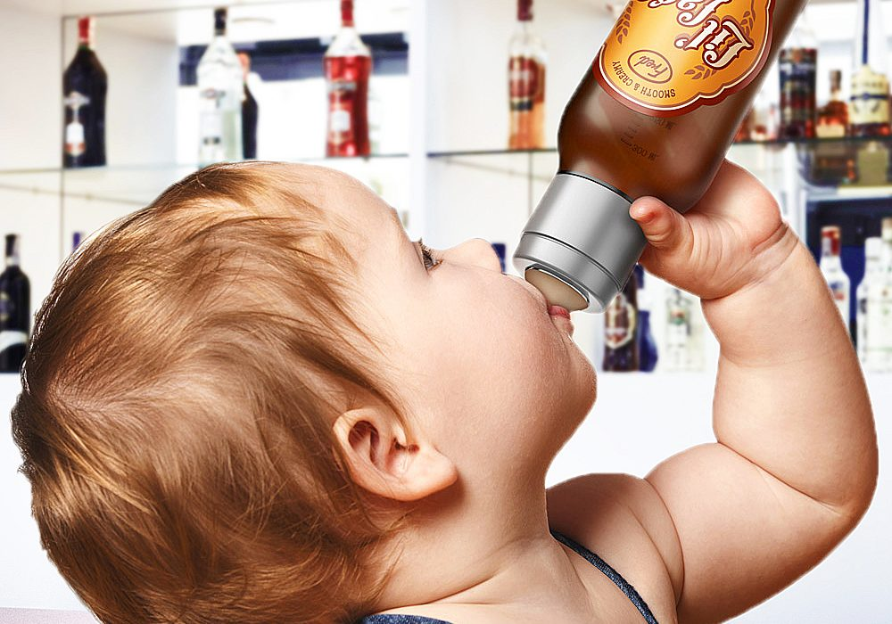 Fred & Friends Chill Lil' Lager Baby Bottle Gift for Babies