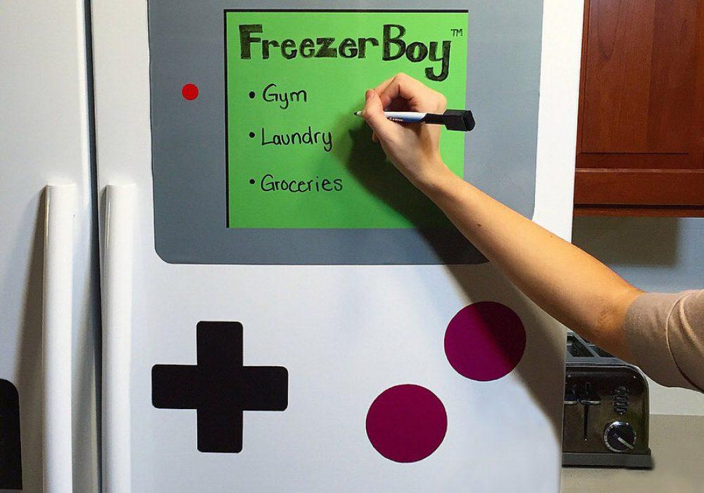 FreezerBoy Dry-Erase Whiteboard Magnets Dorm Room Design