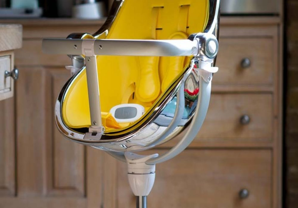 Fresco Chrome High Chair Yellow Padding Luxury Item