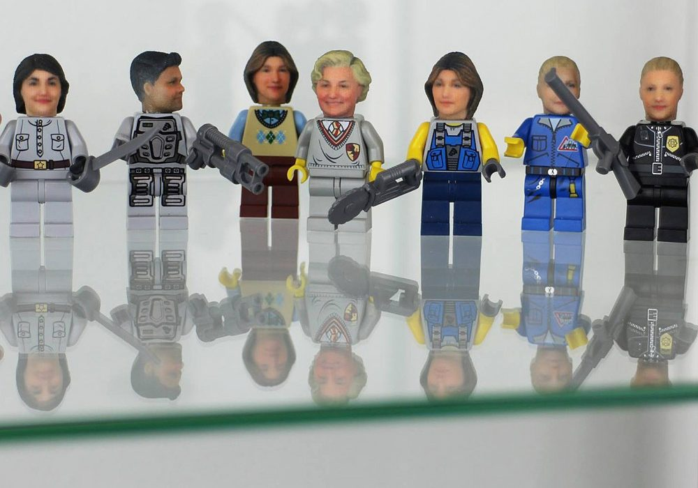 Funky 3D Faces 3D Printed Head for Lego Minifigures Personal Gift Idea